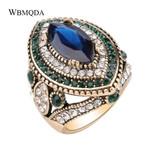Vintage Crystal Stone Fashion Jewelry Luxury Wedding Rings