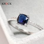 Wedding Engagement Luxury Stoe Sky Blue Stone Ring