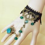 Gothic Wristband Fairy Princess  Crystal Handmade Victorian Bracelet