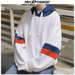 Long Sleeve Patch Korean Loose  Oversized Hoodie