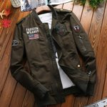 Casual Warm Bomber Cotton Jacket Zipper Military Jacket