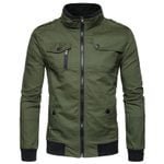 Cotton Pilot Air Force Slim Fit Military Bomber Jacket
