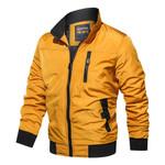 Zipper Outwear Bomber Pilot Cotton Military Jacket