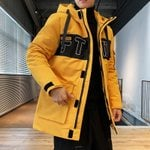 Fashion Hooded Windbreaker Warm Long Slim Fit Coat