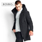 fashion warm hooded thick long coat