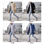 warm Lapel Long Sleeve Slim business Coat