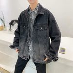 Fashion Wash Retro Casual Loose Hip Hop Bomber Denim Jacket