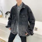 Fashion Wash Retro Casual Loose Hip Hop Bomber Denim Jacket