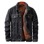 Warm Fleece fashion Plush denim jacket