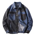 Turn Down Collar Bomber Long Sleeve  Denim Jacket