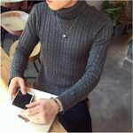 Youth Clothing Tide Fashion  Turtleneck Pullover Sweater