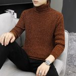 Wool Pullover High Neck Thick Warm Classic Turtleneck Sweaters