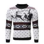 Pattern Knitted Pullovers Fashion Slim Casual Sweater