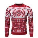 Warm Pullover Christmas Print Knitted Sweater