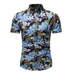 Hipster Floral Hawaiian Slim Fit Short Sleeve Shirt