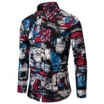 Floral Printed Casual Fashion Classic Dress Shirt