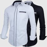 Luxury Long Sleeve Cotton Casual Business Dress Shirts