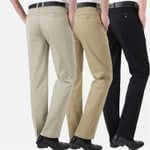Cotton Slim Fit Fashion Trousers Baggy Casual Pants