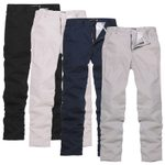 Button Casual Leisure Slim Fit Business Classic Fashion Pants