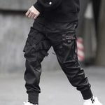 Elastic Waist Punk Casual Trousers Harem Pant