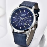 Leather Strap Casual Clock Waterproof Luxury Fashion Quartz Watch