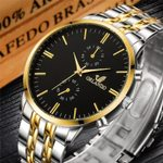 Plated Stainless Steel Wrist  Luxury Quartz Watch