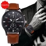 Luxury Leather Sports Wrist Military Quartz Watch