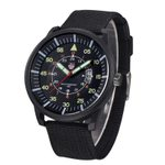 Fabric Strap Quartz Hombre Luminous Watches