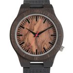 Genuine Leather Band Strap Casual Wooden Watches
