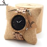 custom logo  Zebra Quartz Wood Watch