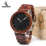 Cool Metal Case Strap Quartz  Luxury Wooden Watch