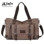 Canvas Cross-Section Business Square Casual Shoulder Handbag