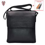 messenger genuine leather pattern flap shoulder handbag