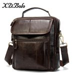 Shoulder Leather Messenger Zipper Cross body Handbag