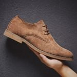 Hombre Casual Suede Leather Oxford Dress
