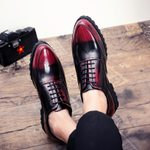 Luxury Leather Platform Casual Fashion Oxfords Shoes