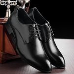 Classic Leather Formal Pointed Toe Lace Up Leather Oxford Shoes