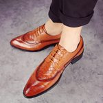 Lace Up Luxury Formal Fashion Leather Pointed Oxfords Shoes
