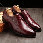 Classic  Oxfords Business Formal Gents Suit Leather Oxfords Shoes