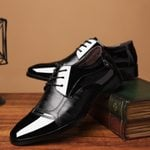 Leather Formal Business Pointed Toe  Formal Oxford Shoes