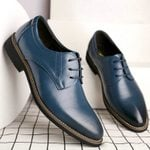 Pointed Lace up Oxfords Shoes