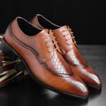 Bullock business Pointed Lace-up formal oxford shoes