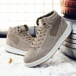 Suede High Top Casual Plush Keep Warm  Snow Shoes