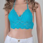 Sexy Crochet Lace Knit Beach Halter Slim Hollow Out Crop Top