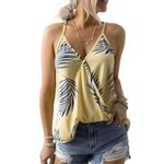 Sexy V Neck Vest Casual Fashion Print Loose Tank Top