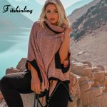 Cloak Sleeve Pullover Turtleneck Knitted Boho Sweater