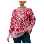 Knitting Pullover Christmas Thick Warm Xmas Boho Sweater