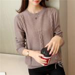 round neck twist wear unlined upper boho sweaters