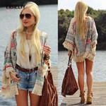 Floral Lace Cardigan Hippie Chiffon Retro Boho Coat
