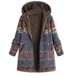 Thick Casual Loose Ethnic Fashion Hooded Cotton Boho Coats